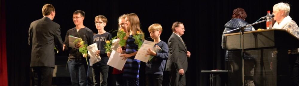 Conrad Fehrke bei der Auszeichnungsveranstaltung